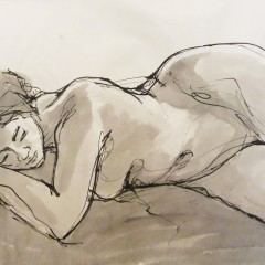 Reclining Figure Illustration