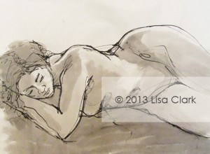 Reclining Nude Illustration